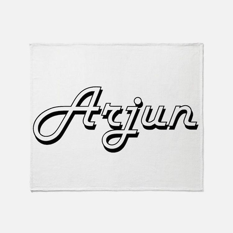 Arjun Classic Style Name Throw Blanket
