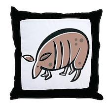 Silly Armadillo Throw Pillow