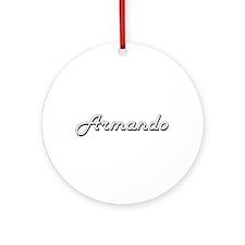 Armando Classic Style Name Ornament (Round)