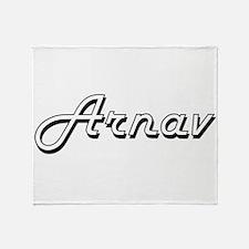 Arnav Classic Style Name Throw Blanket