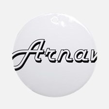 Arnav Classic Style Name Ornament (Round)