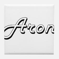 Aron Classic Style Name Tile Coaster