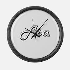 Asa Classic Style Name Large Wall Clock