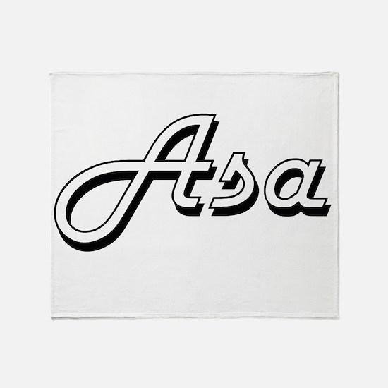 Asa Classic Style Name Throw Blanket