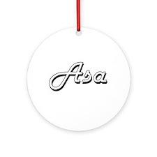 Asa Classic Style Name Ornament (Round)