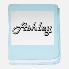 Ashley Classic Style Name baby blanket