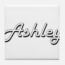 Ashley Classic Style Name Tile Coaster