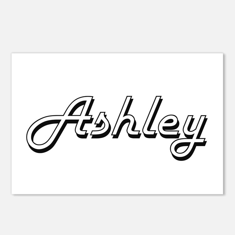 Ashley Classic Style Name Postcards (Package of 8)