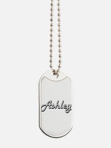 Ashley Classic Style Name Dog Tags