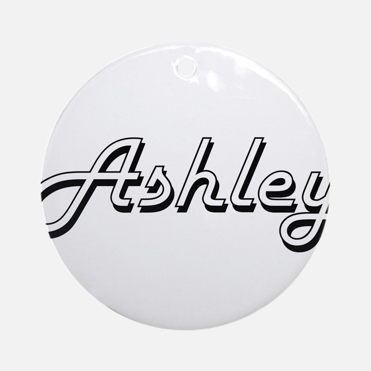 Ashley Classic Style Name Ornament (Round)