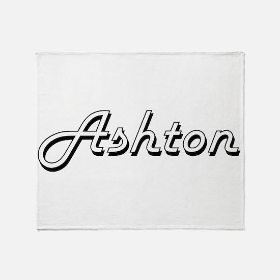 Ashton Classic Style Name Throw Blanket