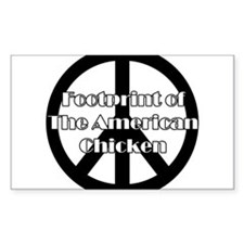 The American Chicken Rectangle Bumper Stickers