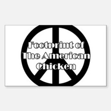 The American Chicken Rectangle Decal