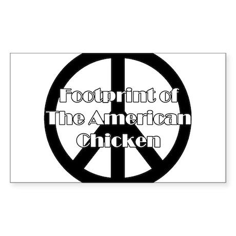 The American Chicken Rectangle Sticker