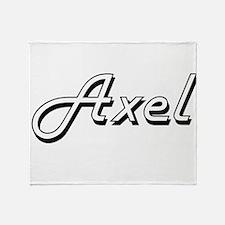 Axel Classic Style Name Throw Blanket