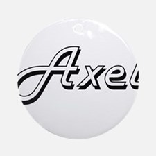 Axel Classic Style Name Ornament (Round)
