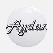 Aydan Classic Style Name Ornament (Round)