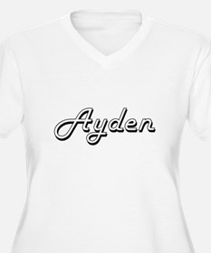 Ayden Classic Style Name Plus Size T-Shirt
