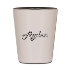 Ayden Classic Style Name Shot Glass