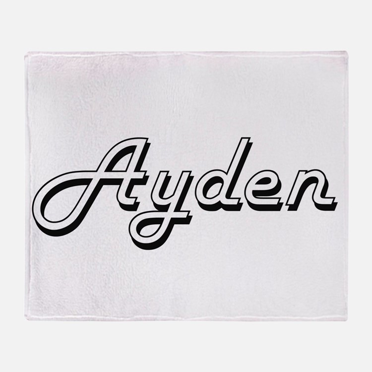 Ayden Classic Style Name Throw Blanket