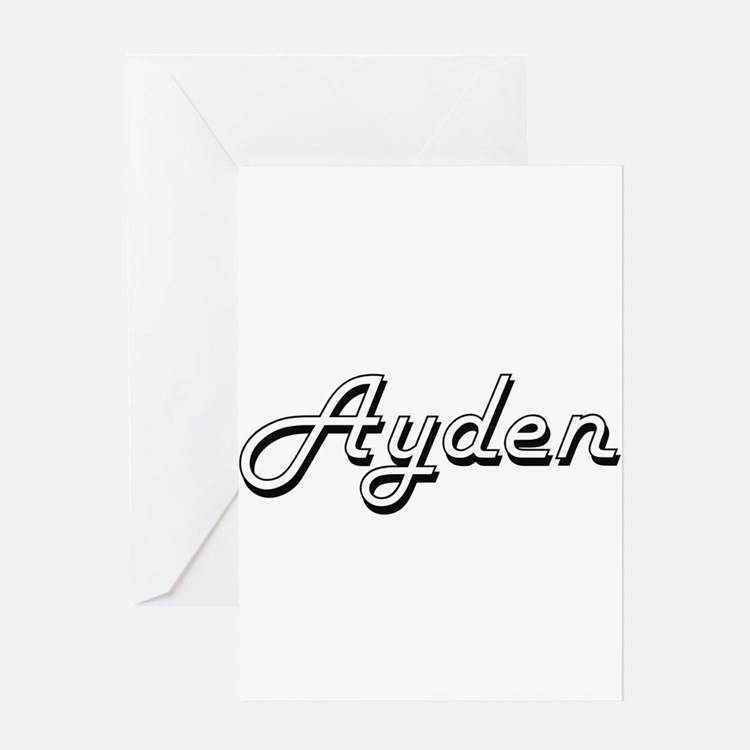 Ayden Classic Style Name Greeting Cards