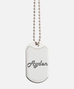 Ayden Classic Style Name Dog Tags