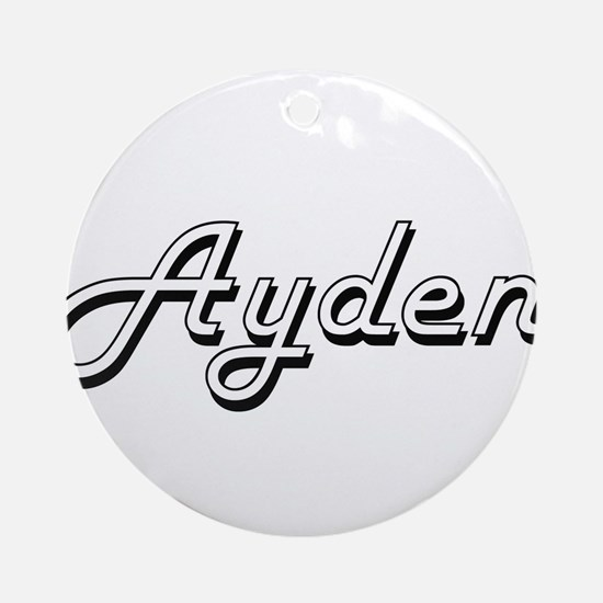 Ayden Classic Style Name Ornament (Round)