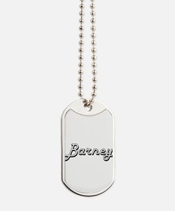 Barney Classic Style Name Dog Tags