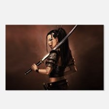 Woman Assassin With Sword Postcards (Package of 8)