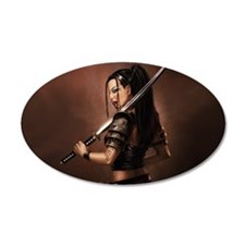 Woman Assassin With Sword Wall Decal