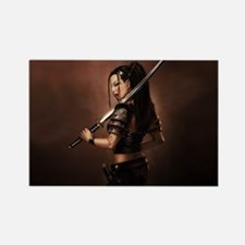 Woman Assassin With Sword Magnets