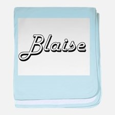 Blaise Classic Style Name baby blanket