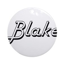 Blake Classic Style Name Ornament (Round)