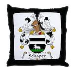 Schaper Family Crest Throw Pillow