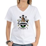 Schaper Family Crest Women's V-Neck T-Shirt