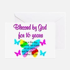 BLESSED 16 YR OLD Greeting Card