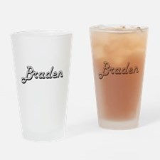 Braden Classic Style Name Drinking Glass