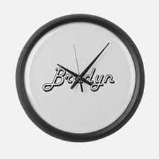 Bradyn Classic Style Name Large Wall Clock