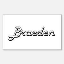 Braeden Classic Style Name Decal