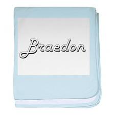 Braedon Classic Style Name baby blanket
