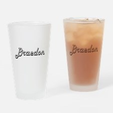 Braedon Classic Style Name Drinking Glass