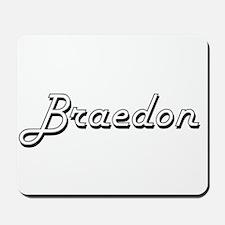 Braedon Classic Style Name Mousepad