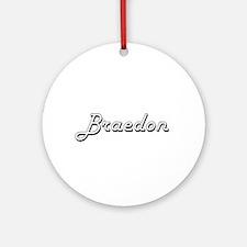 Braedon Classic Style Name Ornament (Round)