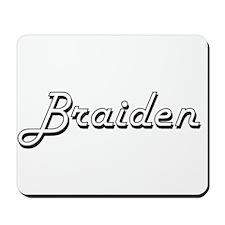 Braiden Classic Style Name Mousepad