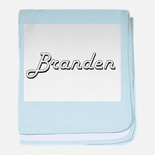 Branden Classic Style Name baby blanket