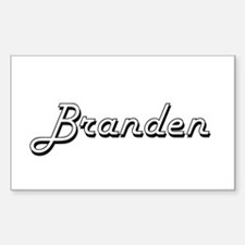 Branden Classic Style Name Decal