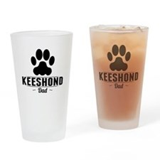 Keeshond Dad Drinking Glass