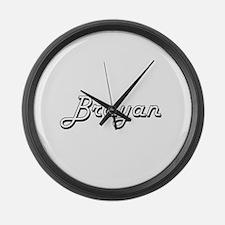 Brayan Classic Style Name Large Wall Clock