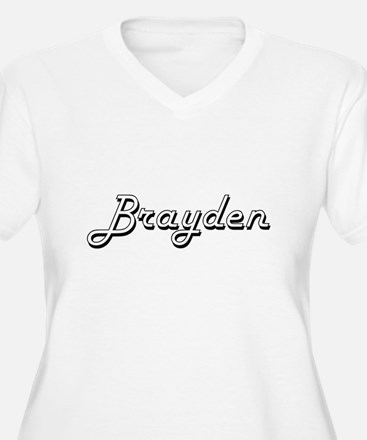 Brayden Classic Style Name Plus Size T-Shirt
