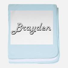 Brayden Classic Style Name baby blanket